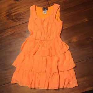 2-Hip orange girl's dress size 7